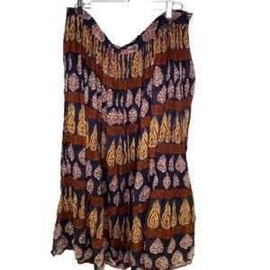 Boho Cotton Maxi skirt